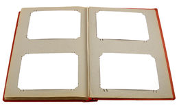 Altes Abbildungalbum mit weißen Blättern Lizenzfreies Stockfoto