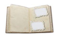 Altes Abbildungalbum. speichern Sie normalerweise Familienfotos Lizenzfreie Stockbilder