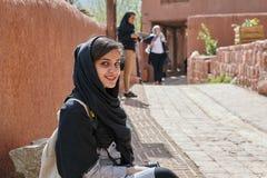 Altes Abyaneh-Dorf in den Hochländern, Touristenattraktion vom Iran Stockfotografie