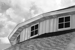 Altes Achteck-Gebäude an den Fayette County Rummelplätzen Stockfoto