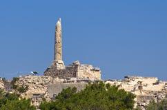 Altes Aegina in Griechenland. Das Colona Lizenzfreie Stockfotos