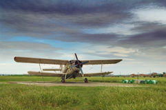 Altes aeroplan Lizenzfreie Stockbilder