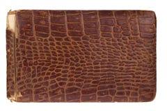 Altes Alligatorleder-Buch 1885 Lizenzfreie Stockfotografie