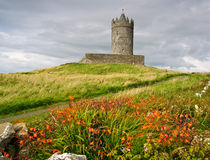 Altes altes irisches Schloss im doolin, Irland Stockfotos