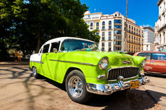 Altes amerikanisches Auto in Havana Stockfotografie
