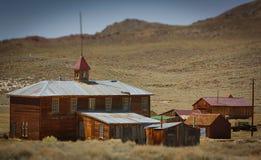 Altes amerikanisches Schulehaus Stockbild