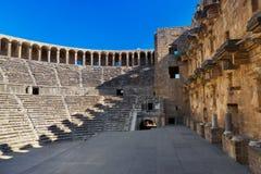 Altes Amphitheater Aspendos in Antalya, die Türkei lizenzfreies stockbild
