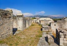 Altes Amphitheater an der Spalte, Kroatien Lizenzfreie Stockfotos