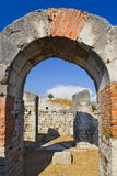 Altes Amphitheater an der Spalte, Kroatien Stockfoto