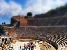 Altes Amphitheater im ephesus Stockfotos