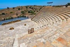 Altes Amphitheater in Kourion, Zypern Stockbild