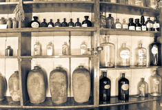 Altes Apothekenmuseum Stockfotografie