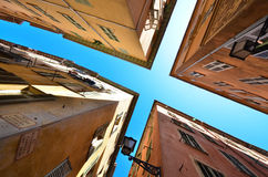 Altes arquitecture, neue Ansicht stockbilder