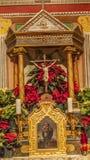 Altes Auftrag-Santa Ines Solvang California Basilica Altar-Kreuz Stockfoto