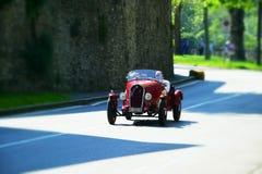 Altes Auto Fiat Balilla in historischem GranPrix Bergamo 2019 lizenzfreie stockfotos