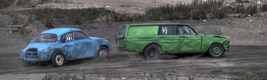 Altes Auto-Laufen stockbild