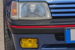 Altes Auto: traditioneller Reflektor Stockfoto