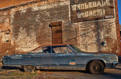 Altes Auto und Typo Lizenzfreies Stockbild