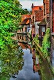 Altes Backsteinhaus in der Mitte von Brügge Lizenzfreies Stockfoto