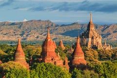 Altes Bagan in Bagan-Nyaung U, Myanmar Stockbild