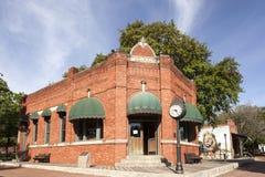 Altes Bankgebäude in Dallas Heritage Village Stockfotos