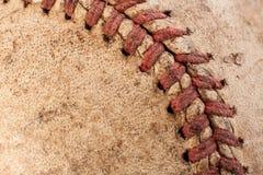 Altes Baseballmakro Lizenzfreie Stockfotografie