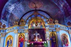 Altes Basilika Mikhaylovsky-Kirche Vydubytsky-Kloster Kiew Ukraine Lizenzfreies Stockfoto