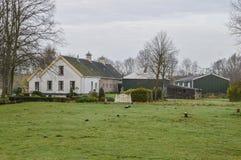 Altes Bauernhaus bei Duivendrecht die Niederlande stockbild