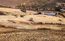 Altes Bauernhoflandhaus in Andalusien Lizenzfreies Stockfoto