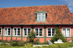 Altes Bauholzfeldhaus Stockbilder