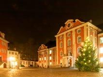 Altes beleuchtet und gefärbt durch die Mitte für das Ferienzeit decorat Stockbild