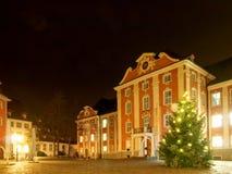 Altes beleuchtet und gefärbt durch die Mitte für das Ferienzeit decorat Lizenzfreie Stockbilder