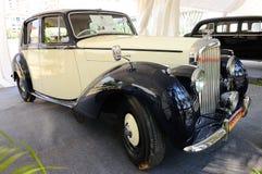 Altes Bentley auf Bildschirmanzeige Lizenzfreie Stockfotos
