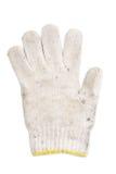 Altes benutztes weißes Handschuhgarn Stockfoto