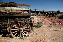 Altes Bergbau horsewagon lizenzfreies stockbild