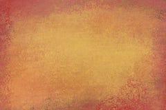Altes beunruhigtes Hintergrunddesign mit verblaßter Schmutzbeschaffenheit in den Farben des braunen und orange Goldes vektor abbildung