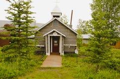 Altes Bibliotheksgebäude im Keno, Yukon, Kanada lizenzfreies stockbild