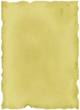 Altes Blatt Papier Stockbild