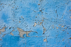 Alte gemalte blaue Wand Stockfoto