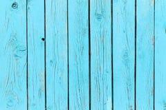 Altes Blau malte hölzerne Wand - Beschaffenheit oder Hintergrund Lizenzfreie Stockfotos