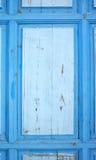 Altes blaues grunge Türdetail Lizenzfreies Stockfoto