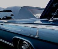 Altes blaues Kabriolett Stockbild