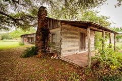 Altes Blockhaus in Lexington Texas Lizenzfreie Stockfotos