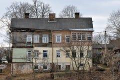 Altes Blockhaus in Vilnius Lizenzfreie Stockfotos