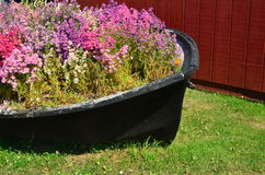 Altes Blumen-Boot Stockbilder