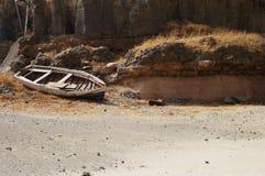 Altes Boot in Afrika Stockfotografie