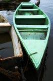 Altes Boot auf einem Fluss Stockfotografie