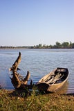 Altes Boot in den Seen Lizenzfreie Stockfotografie