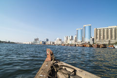 Altes Boot Dubai Creek Stockbilder
