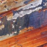Altes Boot mit Schalenfarben-Hintergrundbeschaffenheit Lizenzfreies Stockbild
